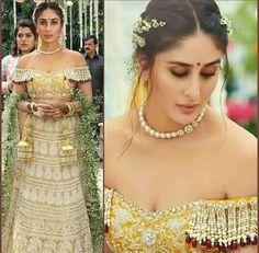 Kareena kapoor bridal look veere di wedding Indian Wedding Hairstyles, Indian Wedding Outfits, Bridal Outfits, Bridal Dresses, Indian Wedding Jewellery, Kareena Kapoor Hairstyles, Bridal Looks, Bridal Style, Bollywood Bridal