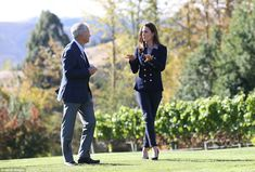 Kate chatted with the winery's co-owner John Darby on the visit to the Queenstown vineyard 4/14/14