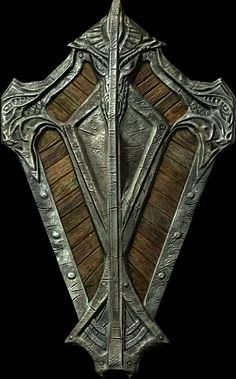 Cool design and maybe lighter than a normal shield cus the inner part is replaced by wood.
