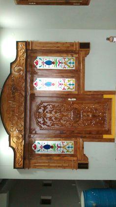 House Main Door Design, Single Door Design, Wooden Front Door Design, Pooja Room Door Design, Wooden Front Doors, Tv Wall Design, Bed Design, Architectural House Plans, Main Entrance