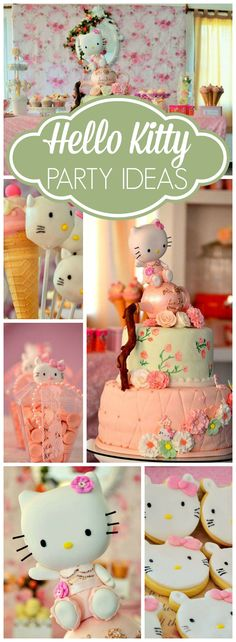 Loving the details at this vintage Hello Kitty party! See more party ideas at CatchMyParty.com!