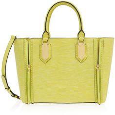 Henri Bendel A-List Satchel ($598) ❤ liked on Polyvore featuring bags, handbags, genuine leather satchel handbags, leather satchel purse, leather purse, satchel handbags and satchel purse