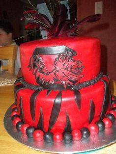 Gamecock cake