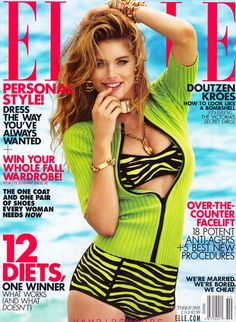 The Bombshells – Victoria's Secret models Miranda Kerr, Adriana Lima, Doutzen Kroes and Chanel Iman take four covers for Elle US' October issue lensed by Alexei… Doutzen Kroes, Vs Lingerie, Lingerie Models, Estilo Resort, Gq, Chanel Iman, Chanel Logo, Elle Us, Vogue