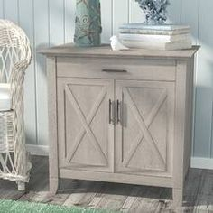Beachcrest Home Oridatown 2 Door Accent Cabinet Finish: Washed Gray Entryway Cabinet, Filing Cabinet, Living Room Storage, Storage Spaces, Door Storage, Entryway Storage, Craft Storage, Storage Cabinets, Secretary Desks