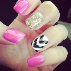 pink, gold and chevron!