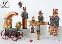 Whispering Pines Patriotic Folk Art Collectibles.  We love Lori Miller's fabulous carvings!!