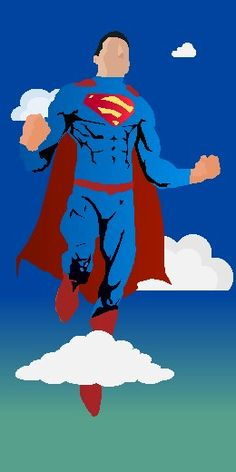 Superman #vector#illustrator#minimal#color