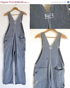 vintage destroyed bib overalls / Big Smith / old by shopgoodgrace, $180.00