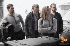 Cressida, Messalla, Castor and Pollux have come a long away since their days in the Capitol. #MockingjayPart2