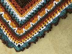 """Close up of my """"Sunny Days""""  Sunday Shawl - pattern by The Little Bee... made by marni"""