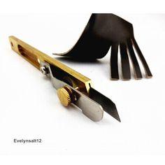 Купить товар Leathercraft инструмент кожа линия полосы нож обрезки ножом позиционирования резак в категории Sewing Tools & Accessory на AliExpress.  Инструмент Craft кожа прокладка линии нож Медные обрезки нож позиционирования резак