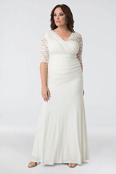 Elegant Aisle Plus Size Wedding Gown | David's Bridal