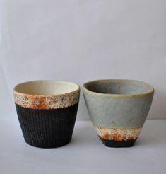 Beautiful cups; potter unknown. Anyone?? via Sou Sou