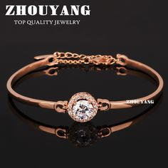 Top Quality ZYH087 Fashion CZ  Rose Gold Plated Bracelet Jewelry   Austrian Crystal Wholesale