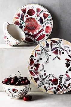 Beautiful dishes!   Harvest Foliage Dinner Plate - anthropologie.com