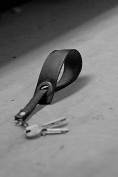 Handmade Leather Key Loop add to your order key loop