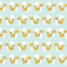 fanfare foxes organic flannel - rae hoekstra for cloud 9
