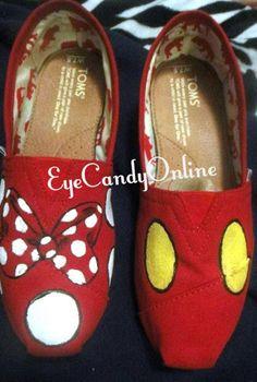 Disney Toms Mickey Minnie by EyeCandyOnline on Etsy