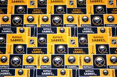 Buffalo Sabres NHL Official Fabric, Three Fourths Yard  100% Cotton Patchwork Fabric, Crafts, Quilts, Home Decor, Continuous Yardage by MeeMawsBags on Etsy