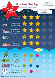 Good Night, Sleep Tight Reward Chart - The Ultimate Sleep Chart for Children from 2yrs. $14.99, via Etsy.