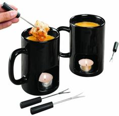 Fondue Mugs - no one will care if you double dip!!!