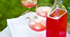 Raparperimehu   Juomat   Soppa365 Alcoholic Drinks, Wine, Tableware, Glass, Food, Dinnerware, Drinkware, Tablewares, Corning Glass