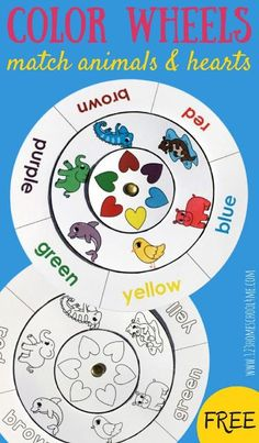 Learn Colors With FREE Color Matching Wheels
