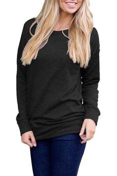 5fdb726e7bd Black Rays Back Long Sleeve Pullover Sweatshirt  sweatshirts  black   pullover  comfy