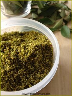 Taste of Mysore: Curry leaves chutney powder ~ Karibevu chutney pudi