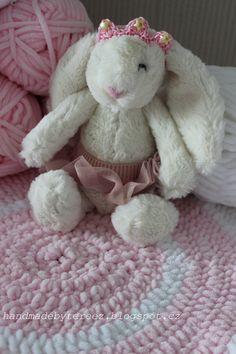 Bunny, crochet, blanket, princess, pink for baby ... http://handmadebytereez.blogspot.cz/