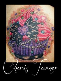 Cupcake Tattoo 2 (Finished Piece) by ~Metacharis on deviantART