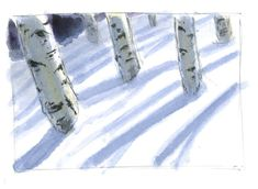 How to paint shadows on snow - John Muir Laws