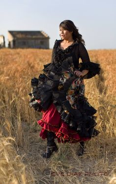 My flamenco dress created by Merchi in Rota, and in an amazing photo shoot by Evelyn Diaz, she created this awesome shot of me in my favorite dress from Feria 2014