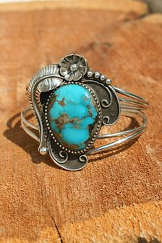 Old Style Turquoise Cuff | Silver Eagle Gallery