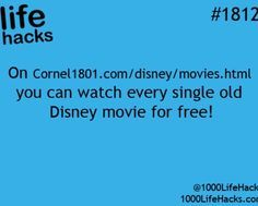 DIY Life Hacks & Crafts : there is a website where you can stream all disney movies for free life hack - G. DIY Life Hacks & Crafts : there is a website where you can stream all disney movies for free life hack G Simple Life Hacks, Useful Life Hacks, Life Hacks Websites, Free Movie Websites, Awesome Life Hacks, Hacking Websites, Disney Movies Free, Watch Disney Movies, Watch Movies For Free