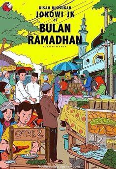 jokowi in ramadhan time