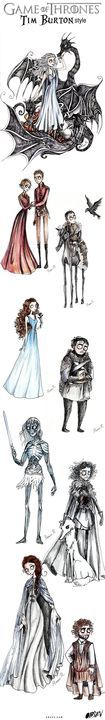 What if Tim Burton directed Game of Thrones? It would look something like this.