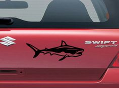Bright Galaxy Stickers Window Truck Car Vinyl Bumper Sticker Decal 5 Shark Swimming