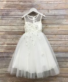 2d9a72aa8b37 Take a look at this Precious Kids Ivory Lace & Beaded Sweetheart Dress -  Toddler & Girls today!