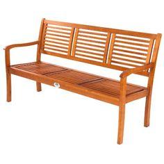 Ultranatura Gartenbank 3-Sitzer, Canberra Serie - Edles & Hochwertiges Eukalyptusholz FSC zertifiziert - 158 cm x 61,5 cm x 89 cm Ultranatura