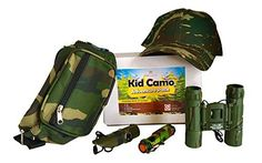 kids camping gear girls - Kid Camo Hat and Survival Gear Kit for Boys: Army Compact Camouflage Binoculars, Cap, Bag, Compass Whistle 7 in 1 & Military Mini Flashlight ** To view further for this item, visit the image link. (This is an affiliate link) Kids Camping Gear, Camping With Kids, Survival Prepping, Survival Gear, Emergency Preparedness, Camping Party Favors, Mini Flashlights, Camo Hats, Outdoor Play
