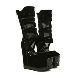 Platform Height: 6cm Heel Height: 14cm  Sizes: 22.5 cm 23cm 23.5 cm 24cm 24.5cm