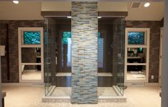 Love this Contemporary Shower!!!