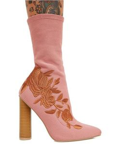 b02e72c491a4 Blush Steal Your Heart Embroidered Boots Punk Boots