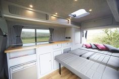 Looking for a camper conversion, but want the glamping experience? Take a look at our Glamping Campervan Conversions and see if it's for you. - Home Decoration Campervan Interior Volkswagen, Vw T5 Interior, Vw T3 Camper, Vw T5 Campervan, T3 Vw, Volkswagen Transporter, Campervan Ideas, Volkswagen Bus, T5 Transporter
