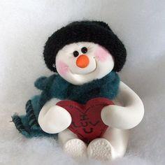 I Heart You snowman ornament.