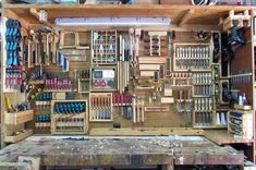 Top 80 Best Tool Storage Ideas - Organized Garage Designs From power to hand tools and beyond, discover the top 80 best tool storage ideas. Explore cool organized garage and workshop designs. Diy Garage Storage Cabinets, Garage Organization Tips, Garage Tool Storage, Wood Storage Sheds, Workshop Storage, Garage Tools, Diy Storage, Storage Ideas, Cabinet Storage
