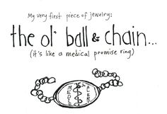 The Ol' Ball and Chain - Pen & Ink Illustration Aplastic Anemia, Medical Humor, Funny Medical, Spoon Theory, Psoriatic Arthritis, Diabetes Awareness, Diabetes Management, Type 1 Diabetes, Ink Illustrations