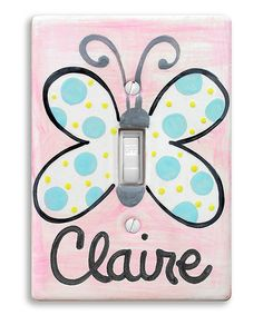 Look at this Butterfly Personalized Light Switch Cover on #zulily today!